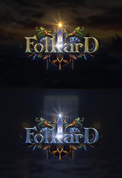 Folkard Editable PSD Game Logotype