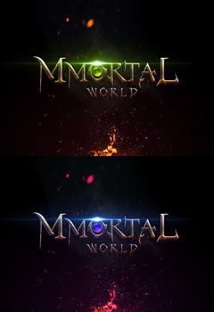 Mmortal Game Logo PSD Template