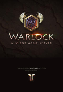 Warlock Game Logo PSD Template