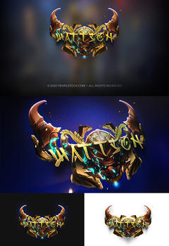 Wattson Editable PSD Game Logotype